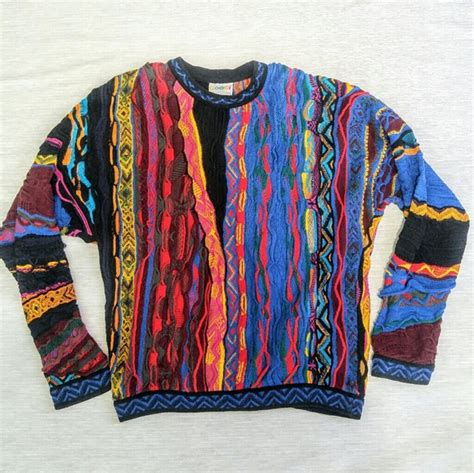 colorful sweaters coogi sweaters vintage 90s 3d colorful sweater xlt