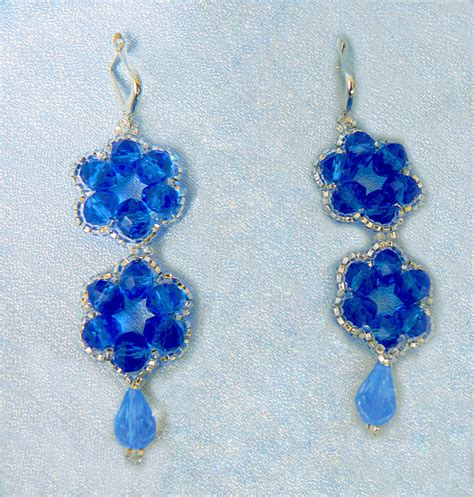 beaded earrings patterns free pattern for earrings blue flowers magic