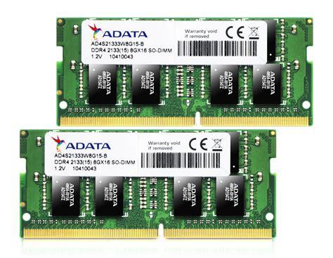 Memory Sodimm Vgen Ddr4 16gb Pc 17000 Pc 19200 16gb adata ddr4 so dimm laptop memory kit 2133mhz pc4 17000 cl15 1 2v 2x8gb