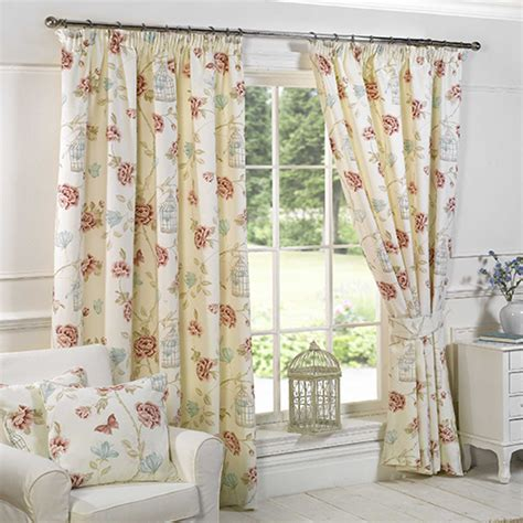 tony s curtains pink cream birdcage floral curtains tony s textiles