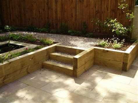 Sleepers Garden Ideas Garden Design Ideas Using Sleepers