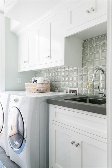 white laundry cabinets ocean front beach style room