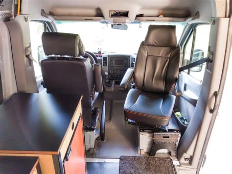 most comfortable van to drive adding suspension seats sprinter adventure van