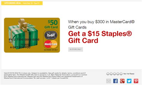 Use Staples Gift Card To Buy Gift Card - staples get 15 staples gift card with 300 mastercard gift card purchase starts