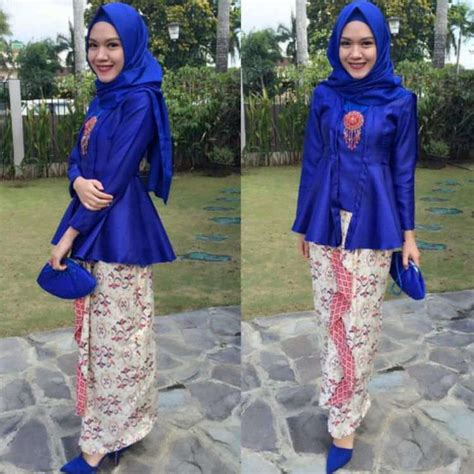 Baju Barca Warna Biru 31 model kebaya wisuda untuk mahasiswi berjilbab modern cantik