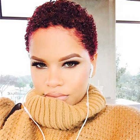 how to dye african american short hair red short natural haircuts for black women the best short