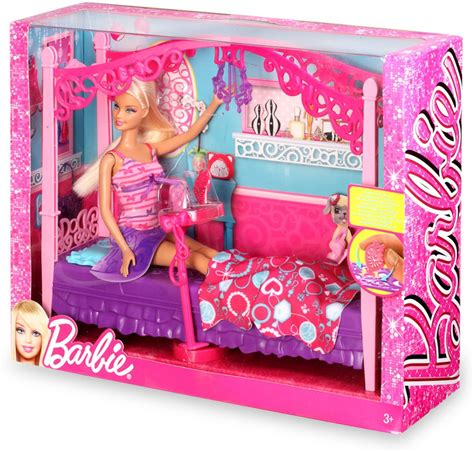 barbie bedroom set mattel barbie glam bedroom furniture and doll set x7941