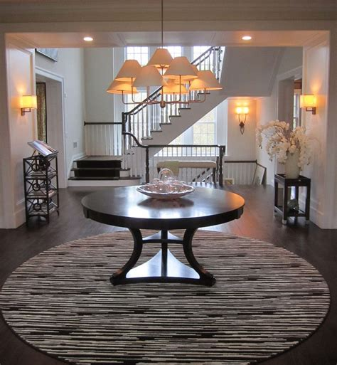 elegant  foyer table  entry traditional