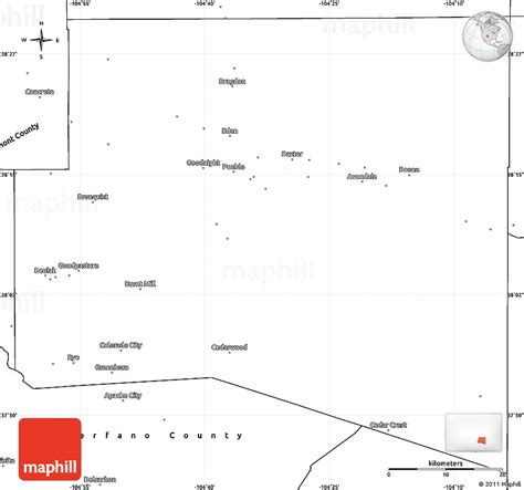 blank map of colorado colorado map outline images