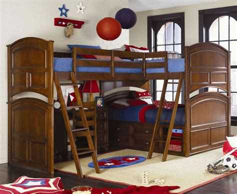 Tri Bunk Bed with Lea Industries Deer Run Bunk Bed