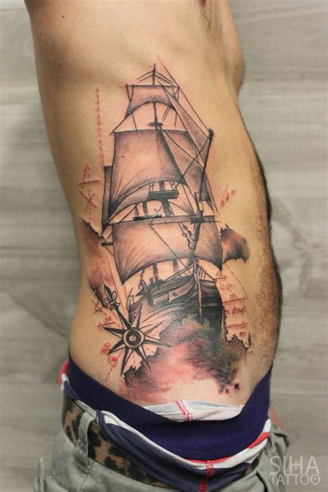 sailboat tattoo by t 7 ink 171 pinned tattoos 171 other 171 tattoo