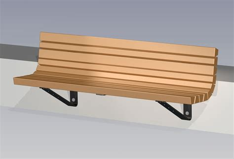wall mount bench timberform site furnishings