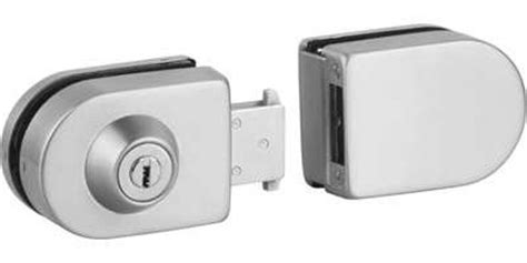 No Door Lock by Retrofit Glass Door Lock With Strike Box No Notching