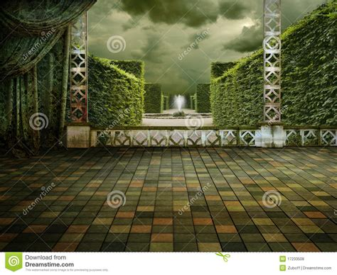terrazzo verde terrazzo verde fotografie stock libere da diritti