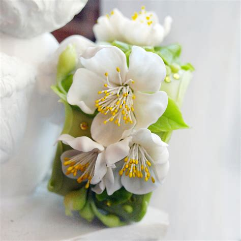 Flower Blossom Bracelet apple blossom flower bracelet handmade jewerly oriflowers