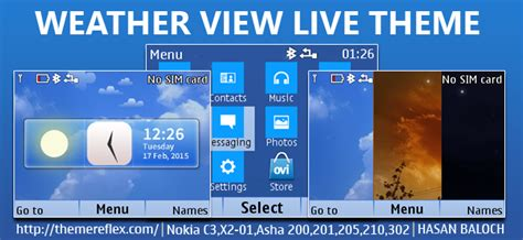 live themes for asha 200 weather view live theme for nokia c3 00 x2 01 asha 200
