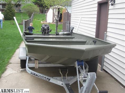 mod v jon boat armslist for sale 14 ft jon boat with 15 hp