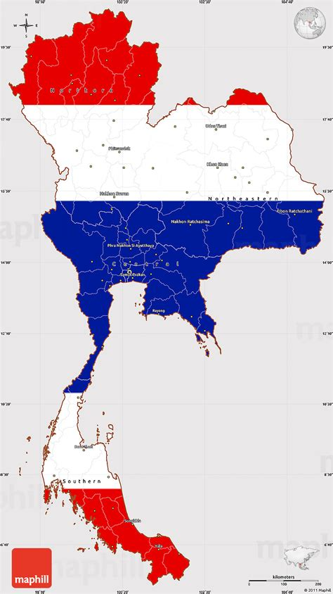 Country Style Home by Flag Simple Map Of Thailand