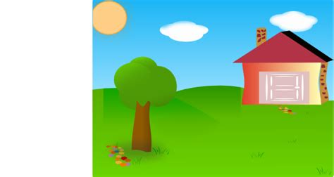 backyard with house moved clip art at clker com vector