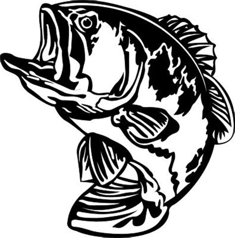 Bass Pro Home Decor by Bass Fishing Fish Decal Sticker You Pick Color Red