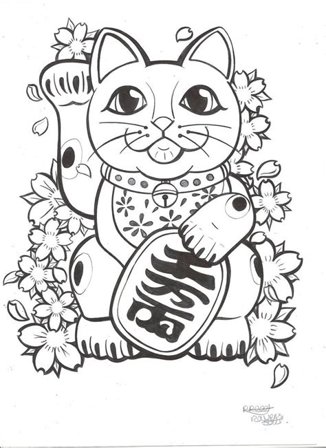 coloring pages luck 25 best ideas about lucky cat on yin