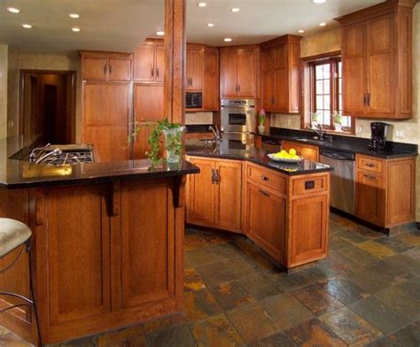 craftsman style flooring craftsman style kitchen craftsman pinterest