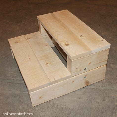 Diy Step Stool simple kid s diy 2x4 wood step stool beckham