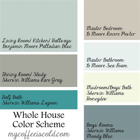 whole house color schemes whole house scheme home pinterest pewter home color