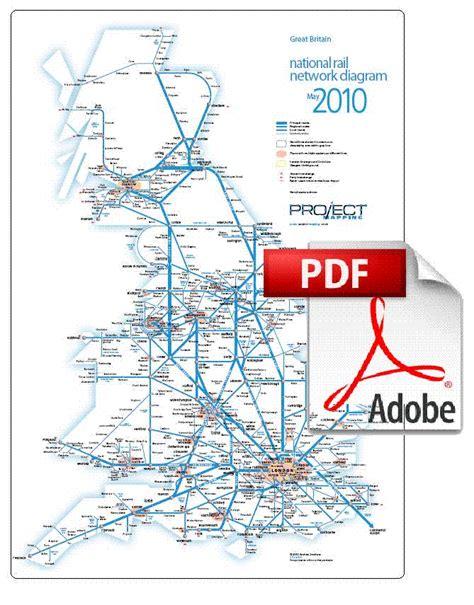 map uk rail lines rail map the uk ireland maps