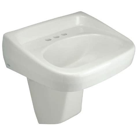 wall mount pedestal sink zurn wall mounted bathroom sink with half pedestal in