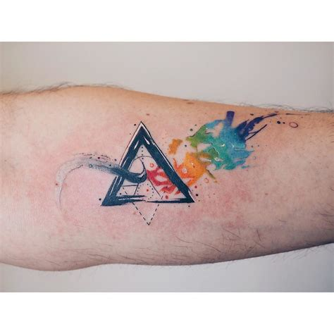watercolor tattoos on darker skin and another side of the moon watercolor