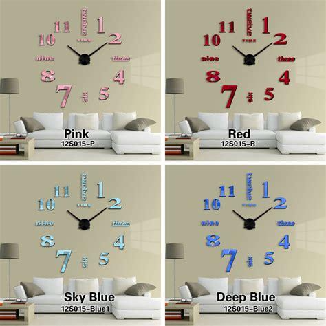 Diy Wall Clock 80 130cm Diameter Elet00660 Jam Dinding T301 jam dinding diy 80 130cm diameter elet00659 silver jakartanotebook