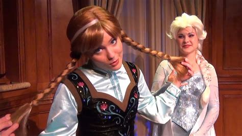 Anna and Elsa from FROZEN Debut at Magic Kingdom in