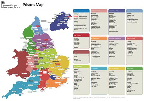 Find In Uk All Uk Prisons Map In Olass List Of Prisons In Offender Learning