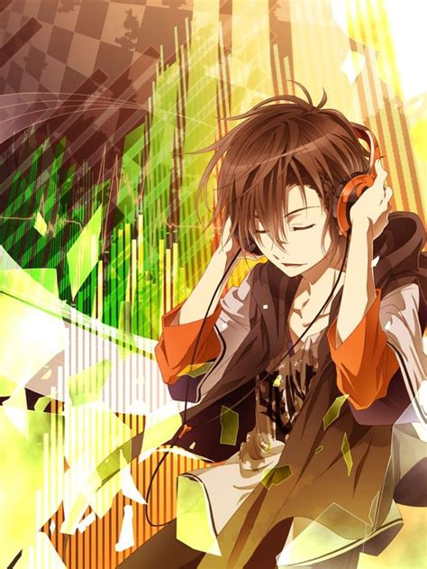anime mp3 47 best anime guys with headphones images on pinterest