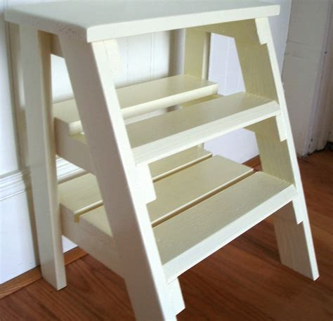 Closet Step Ladder by Step Ladder Or Stool Or White Repurposed Wood