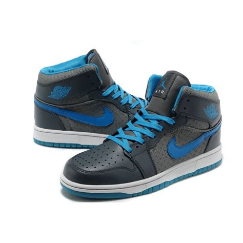 nike jordans shoes air 1 stylish high grey blue white nike shoes cheap