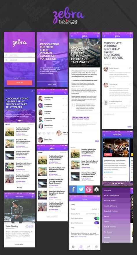 blogger app 50 best free mobile app ui kits psd designmaz
