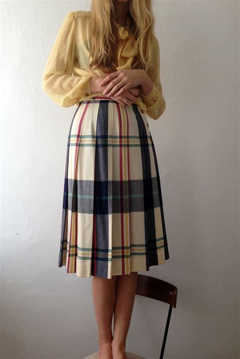 plaid pleated skirt dress