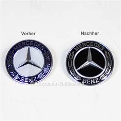 Mercedes Bonnet Badge Front Emblem Black Bonnet Genuine Mercedes