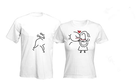Printed T Shirts For Couples Intriguing Printing T Shirt For Couples Buy