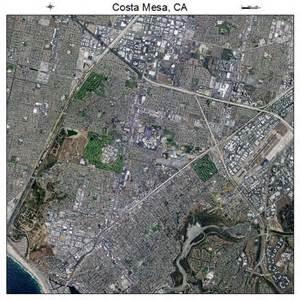 aerial photography map of costa mesa ca california