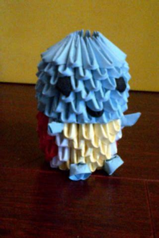 Origami Squirtle - 3d origami squirtle by luvyen101 on deviantart