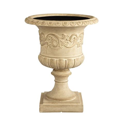 Home Decorators Collection 23 5 In H Grecian Aged Urn Planter