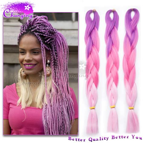 purple ombre braiding hair fashion purple pink ombre kanekalon jumbo braiding hair