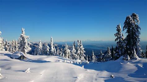 snowy mountain sunset wallpaper