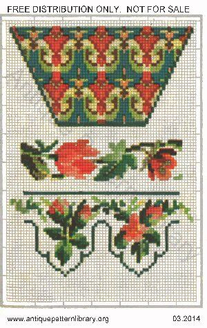 antique pattern library dmc apl b ys042 german leporello overview page