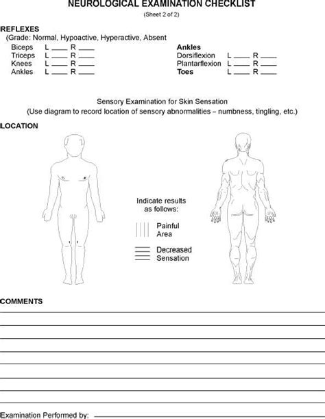 neuro exam template pdf gallery templates design ideas