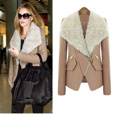 Jaket Overside Dropshoulder Neck Zipper new fashion v neck sleeve zipper pink wool