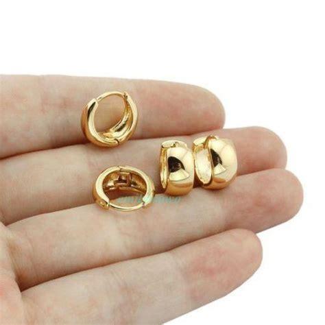 18k gold earrings ebay